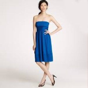 J. Crew Silk Chiffon Juliet Strapless Dress